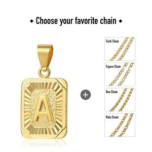 """18"""" Gold Filled Initial Letter Pendant Necklace"""